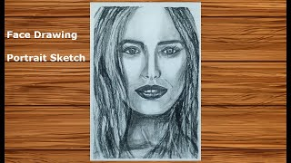 How to draw Realistic Faces #11 | Charcoal Pencil Portrait Sketch Drawing | Face Drawing Series