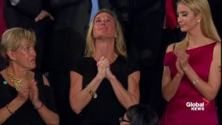 Trump Congress Speech: Trump pays tribute to Navy SEAL killed in battle