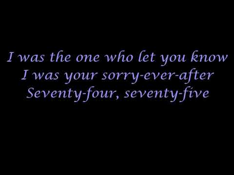 '74 '75~The Connells~Lyrics