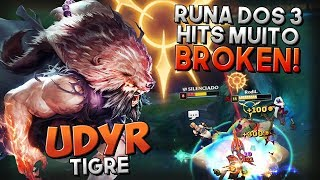 MUITO BROKEN COM A RUNA DOS 3 HITS! - UDYR JUNGLE GAMEPLAY - Festinha do Rodil