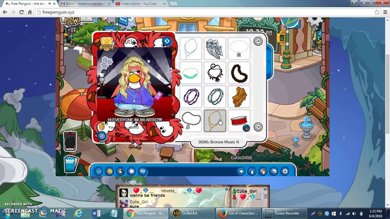 FREE PENGUIN CODES (CLOTHING) Free Download Video MP4 3GP