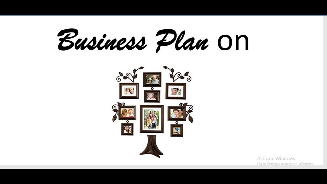 Business plan for custom framing
