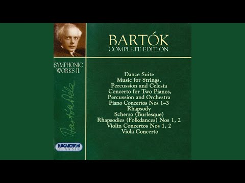 Rhapsody for Piano and Orchestra, Op. 1, Sz. 27, BB 36/b