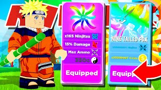 Playing As NARUTO With Full Team Of LEGENDARY PETS In ROBLOX NINJA LEGENDS!! (Got MAX RANK!!)