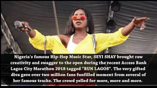 Seyi Shay dazzles million fans @ Access Bank Lagos Marathon 2018
