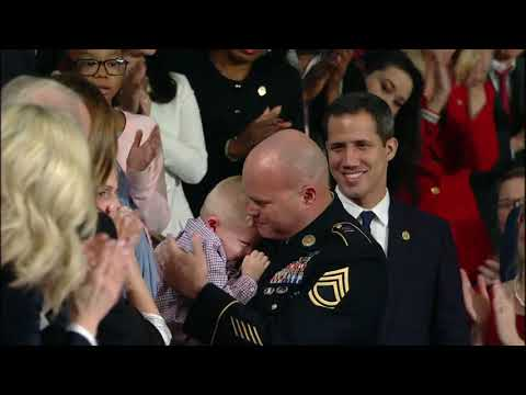 Military Reunion Surprises Family At President Trump's State Of The Union | 10News WTSP