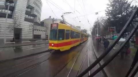 Führerstandsfahrt auf der BLT Tramlinie 10 von Oberwil nach Dornach-Arlesheim