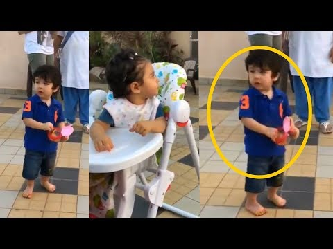 Taimur Ali Khan looks so cute while playing with his friends Inaaya and Kainaat