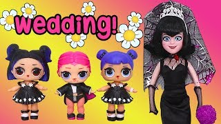 LOL Doll Families ! Flower Girls at Mavis Wedding ! Toys and Dolls Fun for Kids Opening Glam Glitter