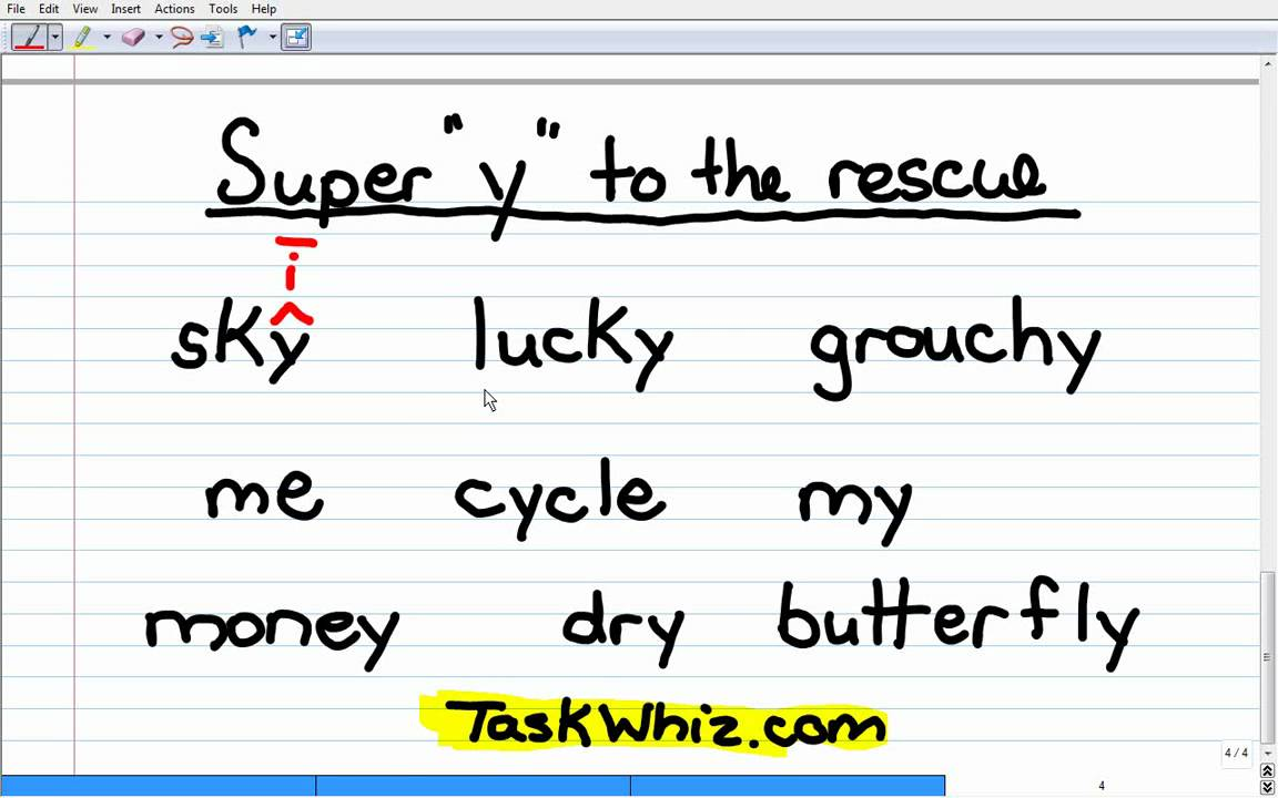Y As A Vowel Phonics Story Lesson Youtube