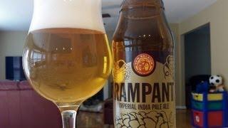 New Belgium Rampant IPA (Imperial India Pale Ale) //SUPER FRESH// DJs BrewTube Beer Review #279