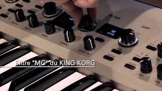 KingKORG : Filtre MG vs MOOG SOURCE par Olivier Briand (La Boite Noire)