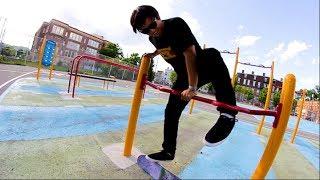 EXTREMELY DANGEROUS PLAYGROUND SKATING!