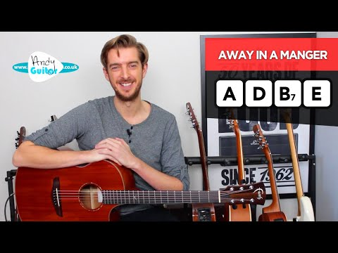 Away In A Manger EASY Simple Guitar Lesson - Christmas Songs for Beginners