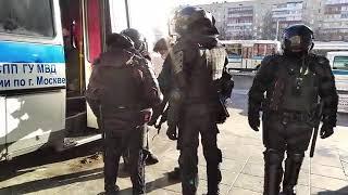 Задержания у метро \