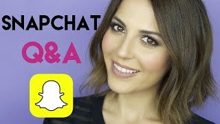 Snapchat Q&A: Favorite YouTubers, Contouring a Round Face etc..