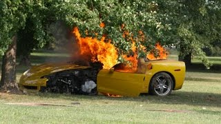 CHEVY CORVETTE ON FIRE!!