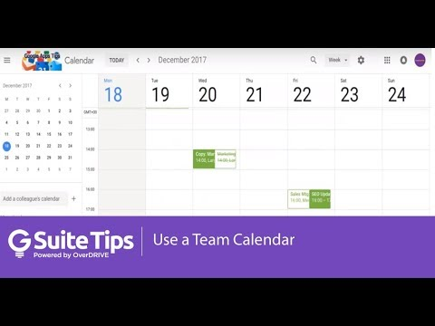 Use a Team Calendar | G Suite Tips