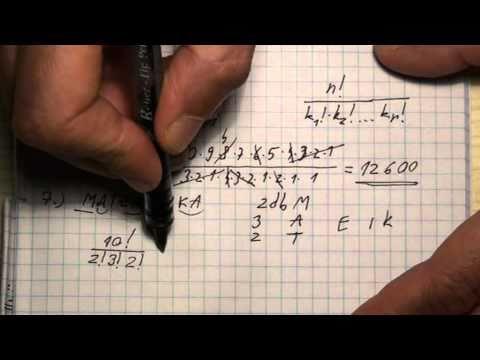 Ismétléses permutáció (feladatokat lásd a leírásban)
