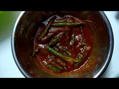 Green Chilli Pickle- Andhra Style