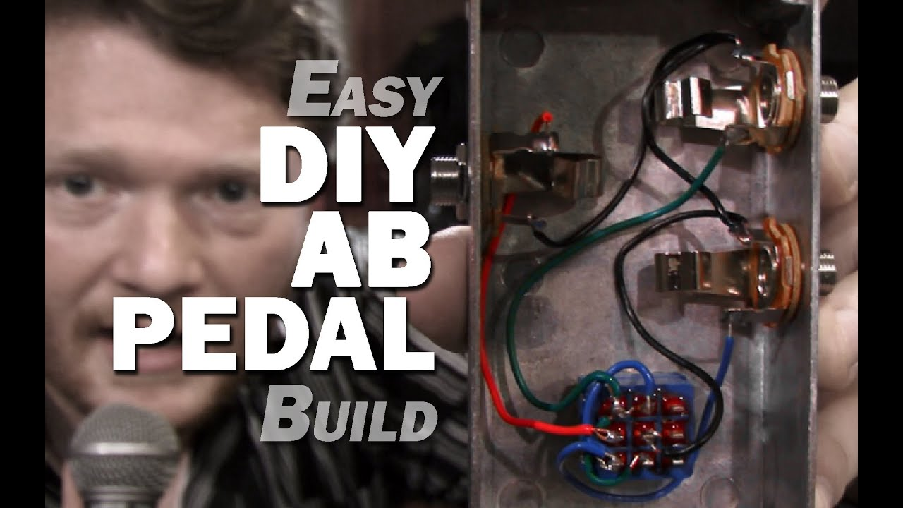 Easy DIY AB Guitar Pedal Build - YouTube A B Switch Guitar Wiring Schematic on small engine kill switch schematic, guitar kill switch schematic, dpdt switch schematic,