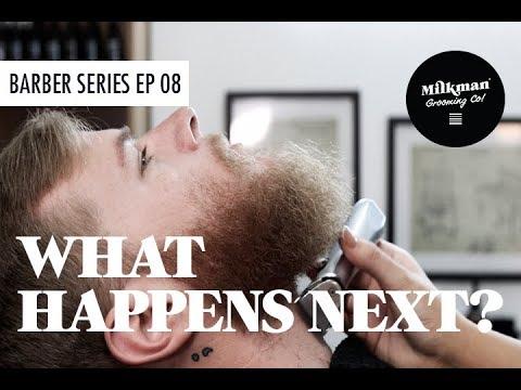 BARBERETTE CRUSHES BEARD FADE (Barber Trim & Shave Series Ep 08)