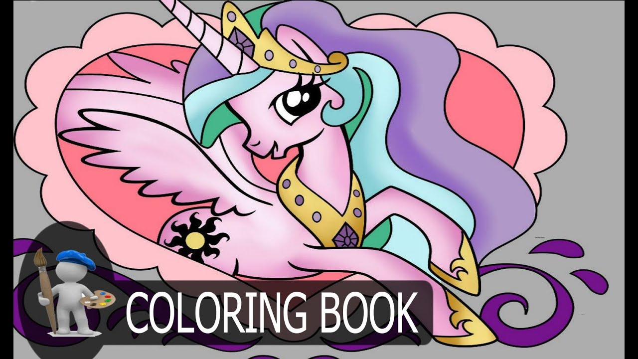 my little pony mlp for kids coloring pages princess celestia youtube