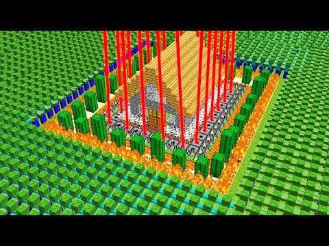 %100 GÜVENLİ EV VS 100.000 ZOMBİ KIYAMETİ! 😱 - Minecraft