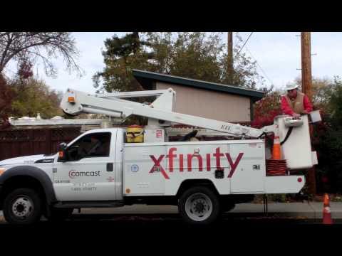 Comcast Hybrid Fiber Optic and Coax RF Cable TV & Internet Network
