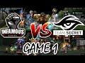 INFAMOUS VS TEAM SECRET [ GAME 1 ]  The International 2017 DOTA 2