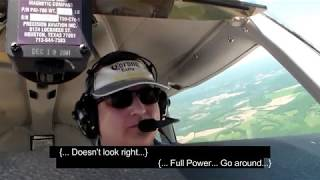 Solo student pilot forgets how to land.