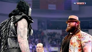 WWE RAW 3/23/15 Undertaker Returns and Attack Bray Wyatt HD !