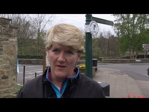 Clare Balding completes the Nidderdale way for Radio 4, Ramblings programme