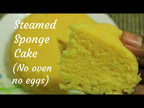 Steamed Cake Recipe - Eggless Cake Recipe - Steamed Eggless Cake - No Oven Cake Recipe