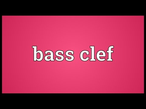 Bass clef Meaning