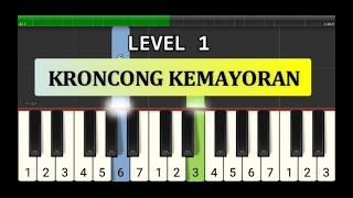 nada piano keroncong kemayoran - tutorial level 1 - lagu daerah nusantara tradisional - jakarta