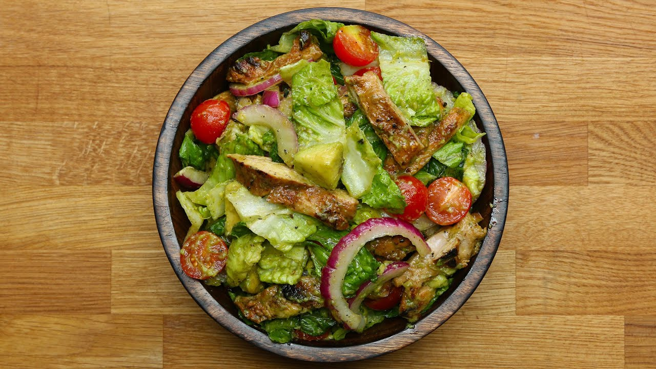 Honey-Lime Chicken & Avocado Salad Recipe created by Tasty