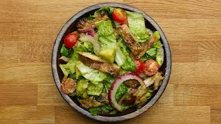 honey lime chicken and avocado salad