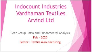 Should i Buy IndoCount Ind. or Vardhaman Textile  or Arvind Ltd Share Price & Stock Analysis