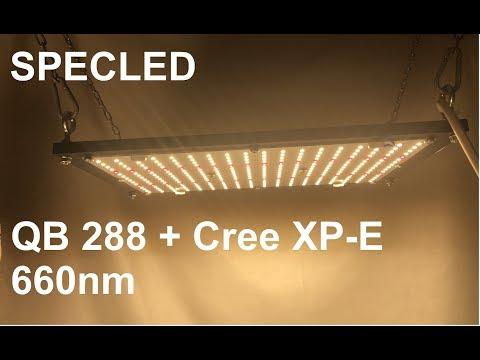 Обзор Quantum Board 288 + Cree XP-E 660nm. Измерение PPFD. Фитолампа
