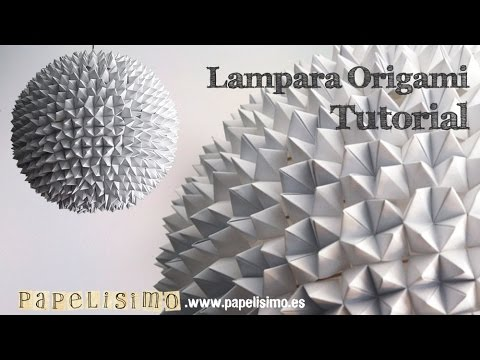 Tutorial lampara origami comecocos youtube - Lampara de origami ...