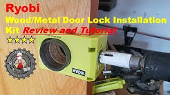 Ryobi Wood/Metal Door Lock Installation Kit review and tutorial