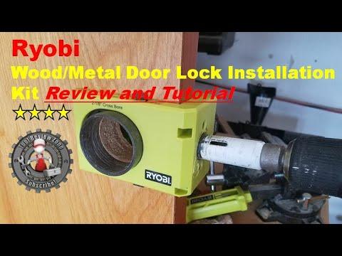 Ryobi Wood/Metal Door Lock Installation Kit review and tutorial