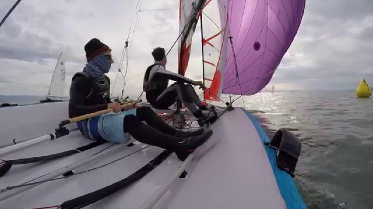 29er sailing GoPro - Jacob og Carl - YouTube