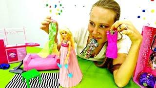БАРБИ. Видео для девочек. Маша делает платье для Барби. Видео поделки из бумаги своими руками