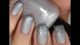 видео Серый маникюр (матовый, с розовым, белым и коричневым лаком, с рисунком) — фото дизайна ногтей