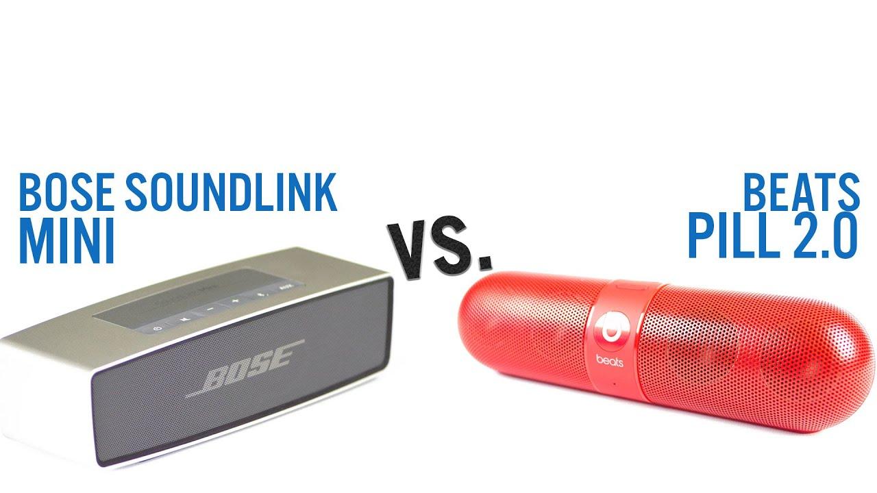 Bose SoundLink Mini vs  Beats Pill 2 0