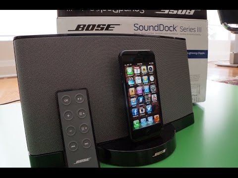 Bose Sounddock 3 REVIEW and Hands On