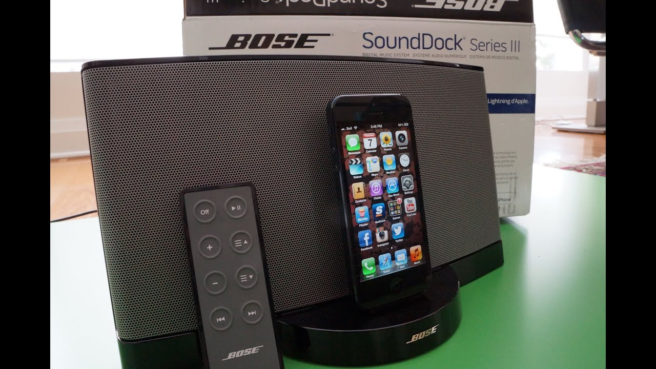 bose sounddock 3 review and hands on youtube. Black Bedroom Furniture Sets. Home Design Ideas