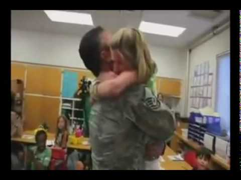 Soldiers back from war, surprising their families